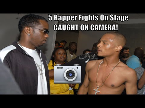 5 Rapper Fights On Stage - Caught On Camera Featuring ASAP Rocky, Kid Cudi & Action Bronson PART 2