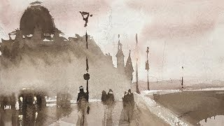 Advancing with Watercolor: Improvising with Tonal Values