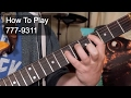 Download How to Play: '777 - 9311' The Time Guitar Lesson MP3 song and Music Video