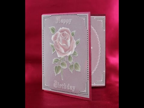 Parchment Craft PCA -66 TP7146EC EasyCut Inside Outside Rose Birthday