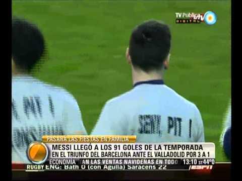 Visión 7: Messi llegó a los 91 goles de la temporada