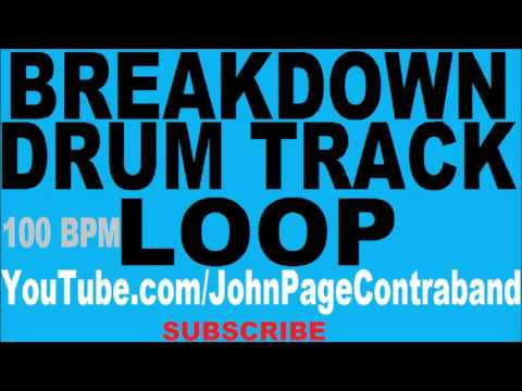 Breakdown Drum Track 100 bpm Backing Loop Slow