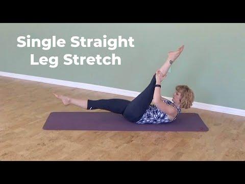 Single Straight Leg Stretch on the Mat ⎮Pilates Encyclopedia