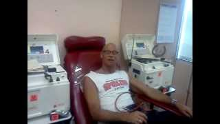 The Wonder Twins Tim Butler Tom Butler donating plasma at ABS in Los Angeles.