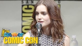 The Mortal Instruments Comic Con 2013 Panel - Lily Collins, Jamie Campbell Bower
