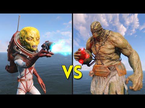 Fallout 4 - 250 Aliens VS 25 Suiciders - Battles #4