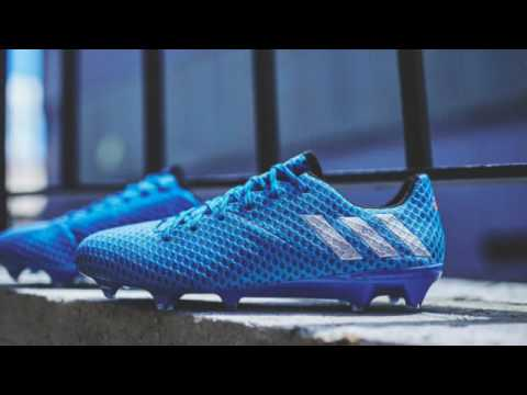 17502fd8958 New Speed Adidas Messi 16.1 with Shock Blue Part of Light Boots ...
