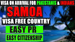 Visa Free Country | Samoa Visa On Arrival For Pakistanis & Indians In 2020