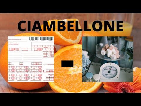 Ciambellone arance e cioccolato facile - dose a bicchieri