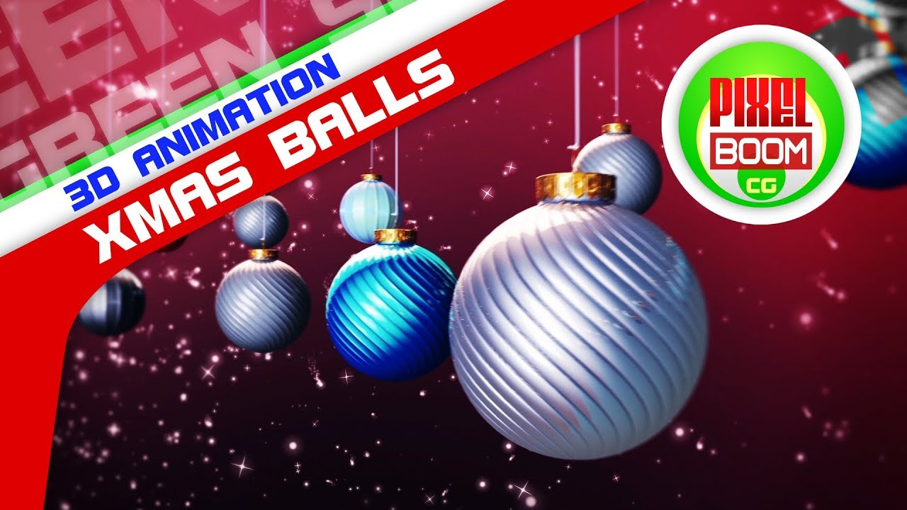Xmas Ball Loop Animated Background Christmas Stars