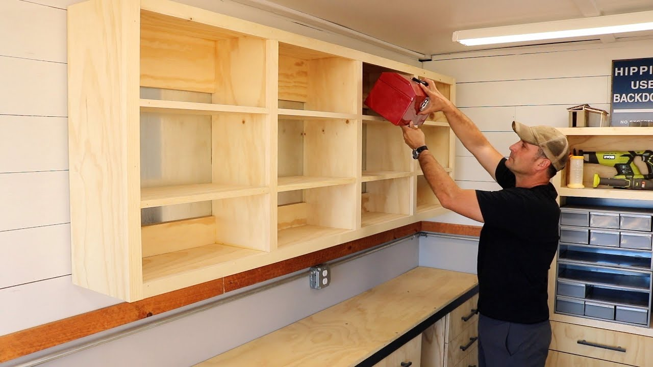 Shop Shelving using French Cleats Easy