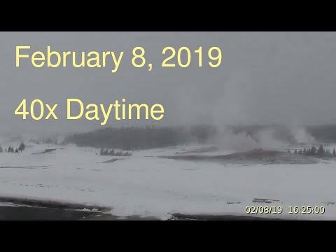February 8, 2019 Upper Geyser Basin Daytime Streaming Camera Captures