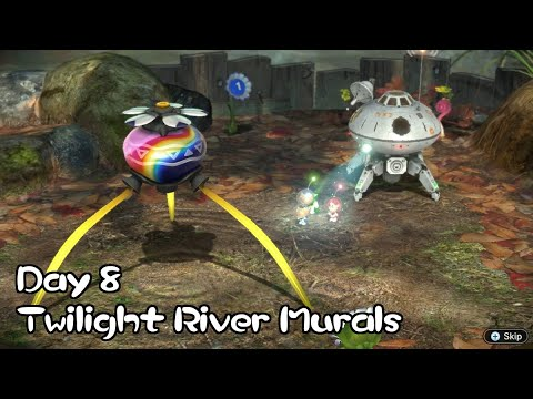 Pikmin 3 Deluxe (Ultra-Spicy/No Deaths) - Part #06: River Murals (Day 8) |
