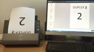 Canon imageFORMULA DR-C225 Scan test