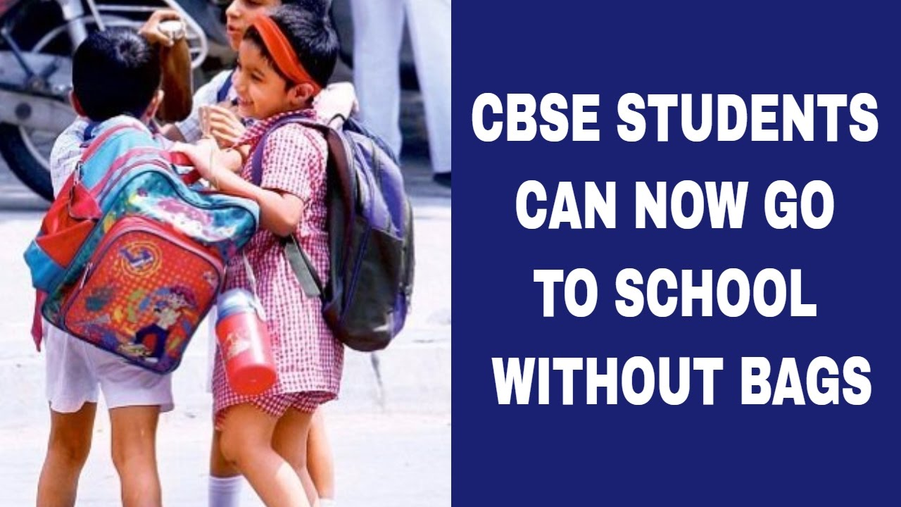 School bag ahmedabad gujarat - Cbse Students Dont Need To Carry School Bags
