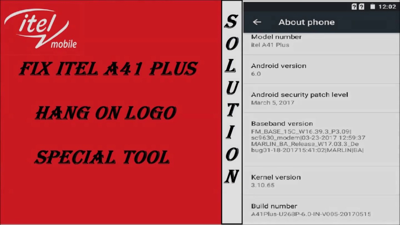 Itel A41 and A41plus hang on logo SOLUTION (Modified Tool)