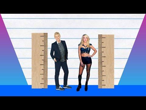 How Much Taller? - Ellen DeGeneres vs Ellie Goulding!