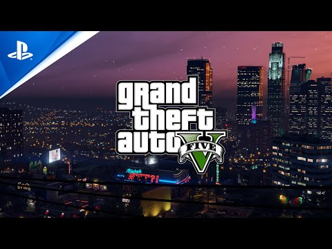 Grand Theft Auto V and Grand Theft Auto Online - PlayStation Showcase 2021 Trailer   PS5