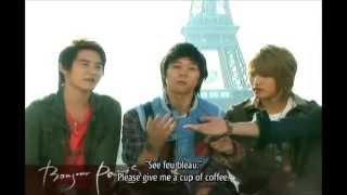 Junsu and Yoochun speaking French Resimi