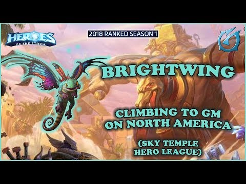 Grubby | Heroes of the Storm - Brightwing - Climb to GM on North America - HL 2018 S1 - Sky Temple