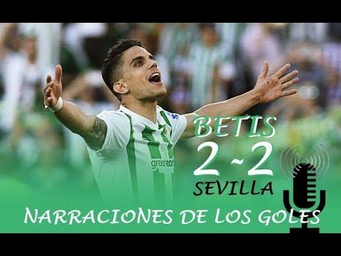 Betis 2-2 Sevilla | Narraciones de los goles de Bartra y Loren