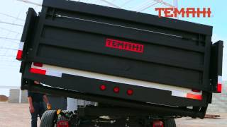 Temahi double action light dump truck with hydraulic gate.