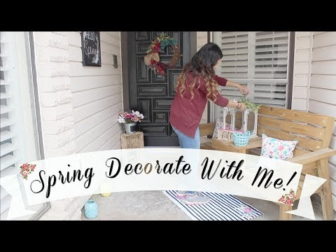 SPRING DECORATE WITH ME | FRONT PORCH