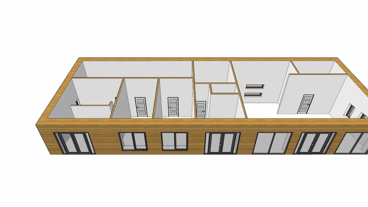 Huis interieur 3d houten woning buitenkant youtube - Interieur eigentijds houten huis ...