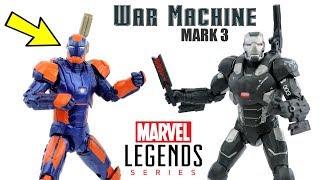 Máquina de Combate Mark 3 e Homem de Ferro Mark 27 Disco Review 2-pack Marvel Legends Guerra Civil
