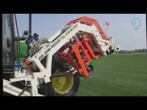 #Amazing automatic sod harvester cutting machine or grass roll forming machine VS Turf cutting mach