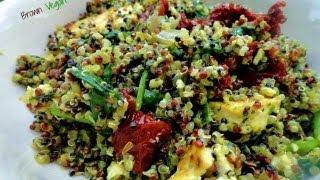 Quinoa Dinner-tofu, Vegan Pesto, Sun-dried Tomatoes