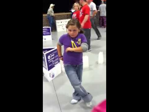 Kyleigh dancing at Relay for life in Panola Tx