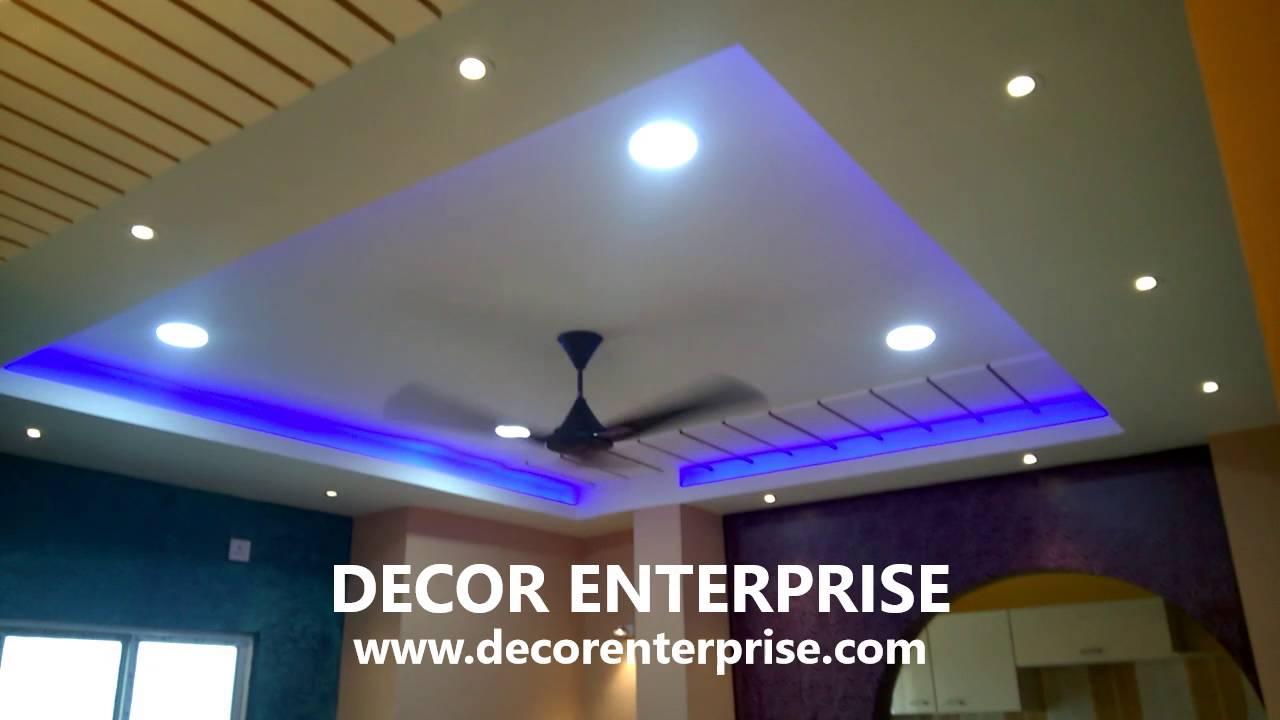 Gypsum False Ceiling Designing Decor Enterprise Kolkata Youtube