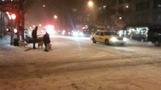 Get Outs Da Way!! New York City Fire Department In The Snow