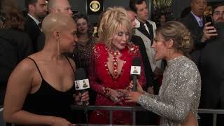 Dolly Parton Red Carpet Interview   2019 GRAMMYs