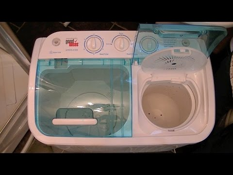 Good Ideas Compact Twin Tub Washing Machine Demonstration &