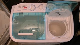 Good Ideas Compact Twin Tub Washing Machine Demonstration & Review