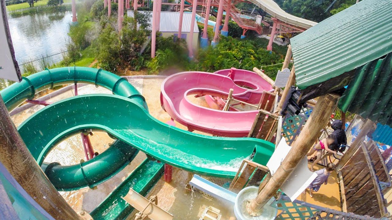 Adventure Island Tampa: Splash Attack Kids Slides