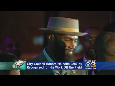City Council Honors Malcolm Jenkins