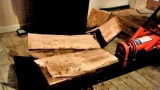 harbor freight 10 ton manual hydraulic log splitter review