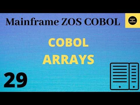 Mainframe - Cobol Practical Arrays 1d