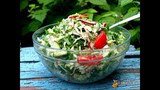 Овощной салат 'Здравствуй лето!' Диетические блюда