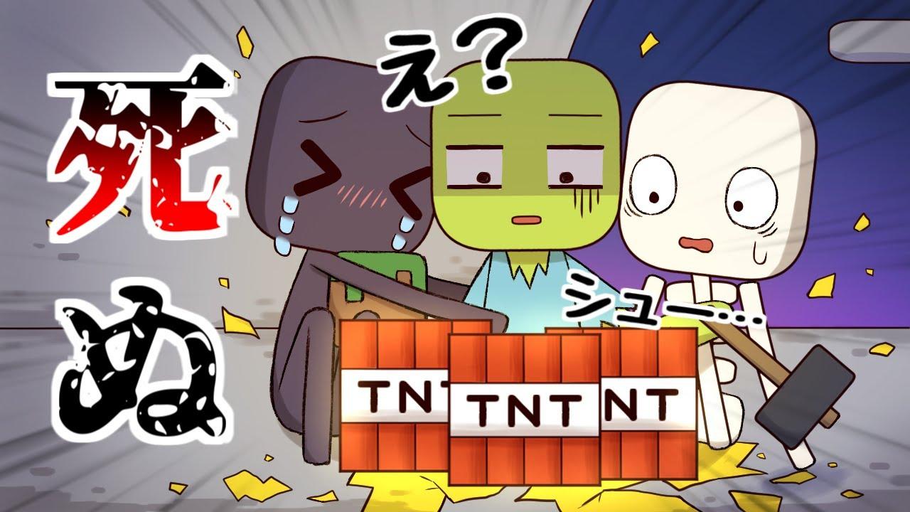 【アニメ】エンダーさんが拾った謎のブロックを壊してみた結果…【マインクラフト】
