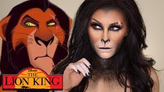 The lion king Scar makeup tutorial l The lion king collection