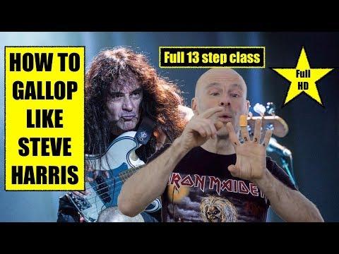 HOW TO GALLOP Like Steve Harris ? Full 13 Step Class In FULL HD !