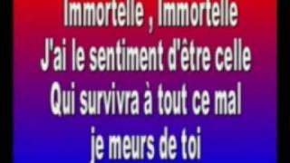 Karaoké Lara Fabian Immortel sans voix