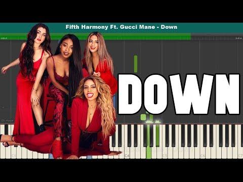 Down Piano Tutorial - Free Sheet Music (Fifth Harmony Ft. Gucci Mane)
