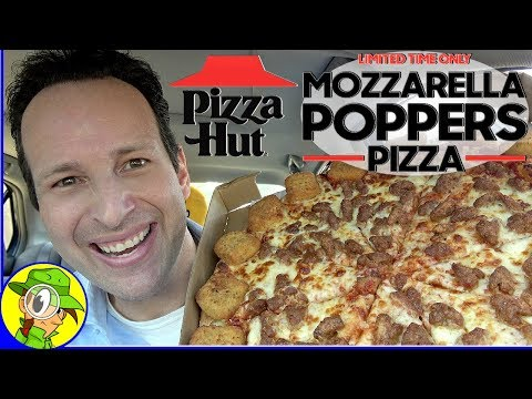 Pizza Hut® | MOZZARELLA POPPERS PIZZA Review 🧀💥 | Peep THIS Out! 🍕