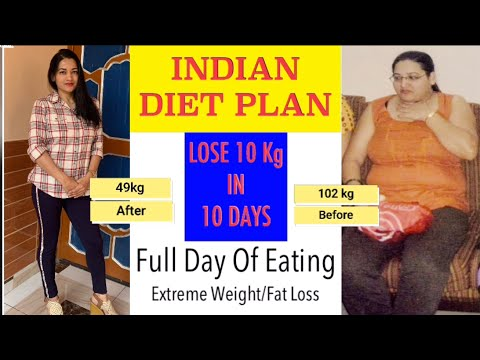 Indian Diet Plan Full Day Eating | Diet Plan To Lose Weight Fast In Hindi | Lose 10 Kg In 10 Days