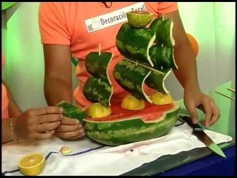 Barco y palmeras con frutas p 30 parte 2 3 for Como secar frutas para decoracion